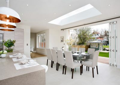 New build project in Teddington, incorporating timber bifold doors to ground floor level