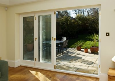 4 leaf timber bifold door in Twickenham