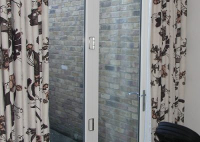 2 leaf timber bifold doorset in Bushwood Road, Kew. Incorporates Centor bifold door gear