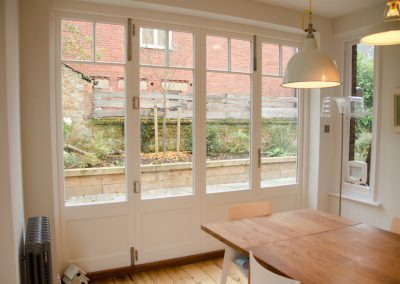 bespoke timber bifold doors at Wimbledon family home